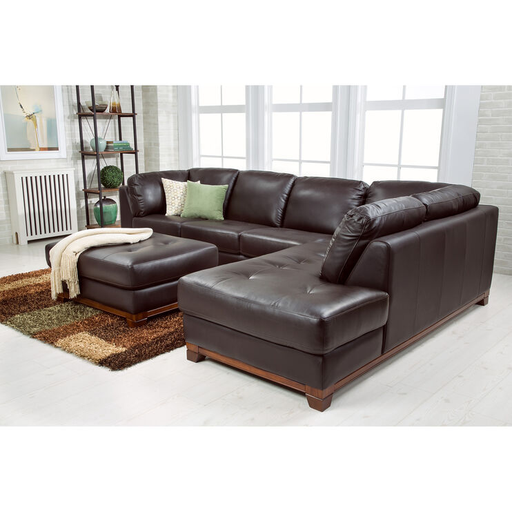 Brooklyn Brown Right Chaise Sectional