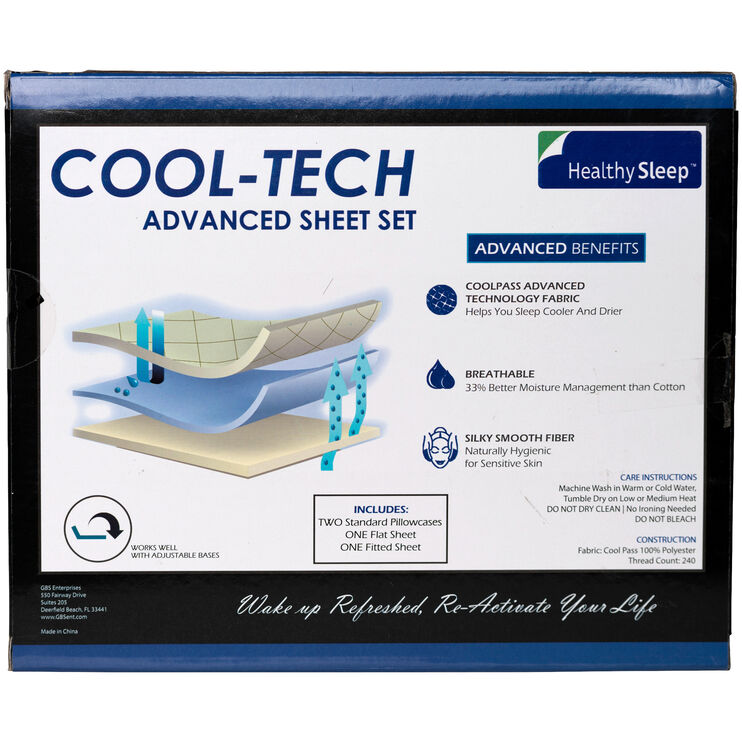 CoolTech Twin Cream Sheets