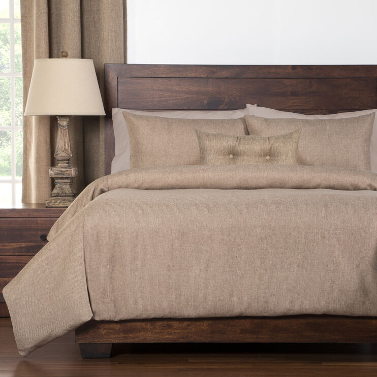 Harbour 5 Piece Sand Queen Duvet Set