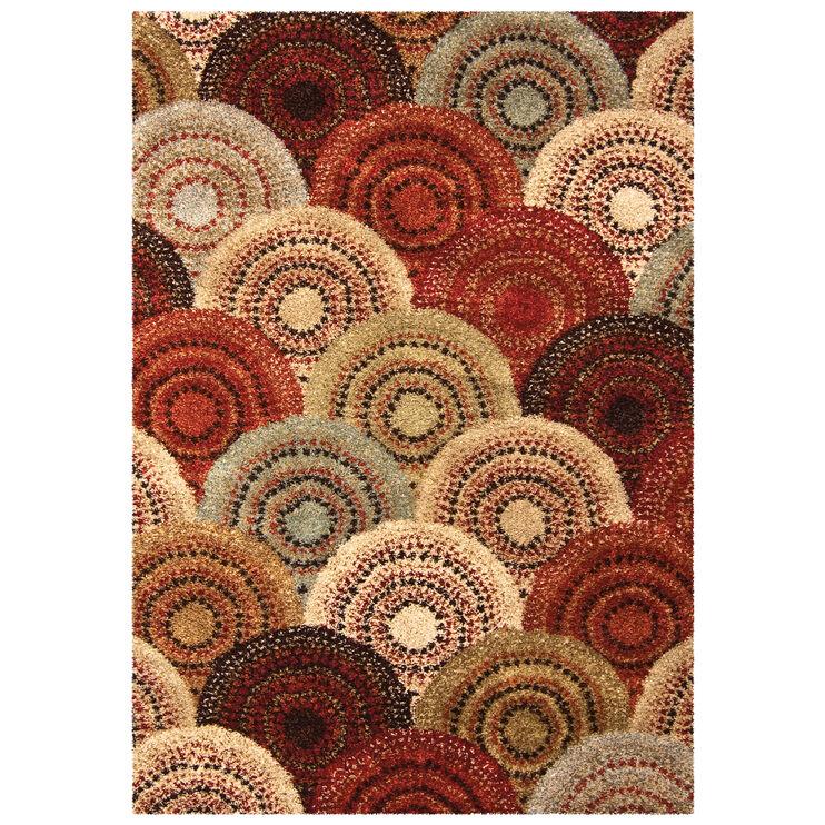 Wild Weave Parker Multi Color Circles 8 x 11 Rug
