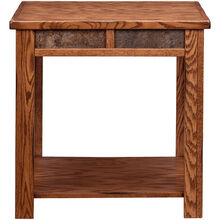 Evanston Antique Oak Rustic End Table