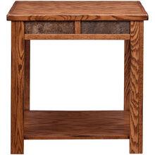 Evanston Antique Oak Rustic End Table