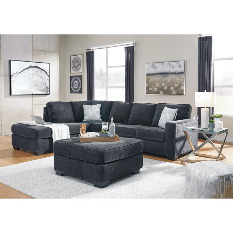 Riles Slate Left Chaise Sectional