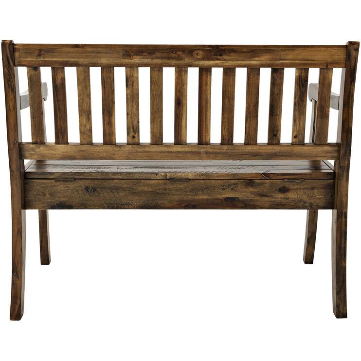 Artisans Craft Brown Storage Bench