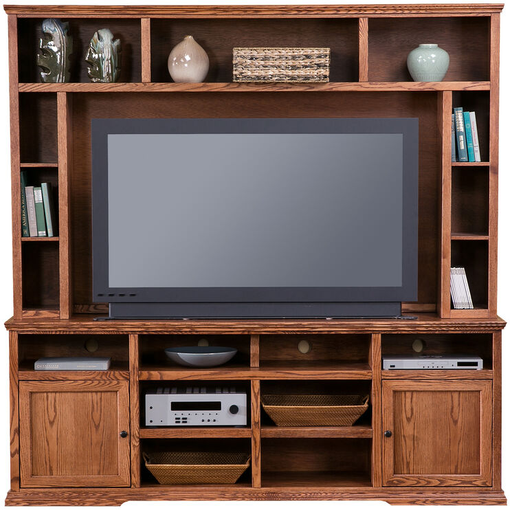 Chambers Gold Oak 86 Inch Console with Hutch
