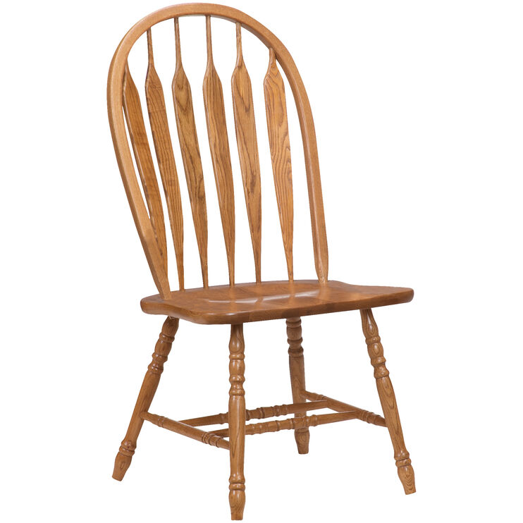 Jefferson Oak Curved Arrow Side Chair