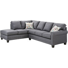 Whittier 2 Pc Gray Sectional