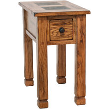 Sedona Rustic Oak Chairside Table
