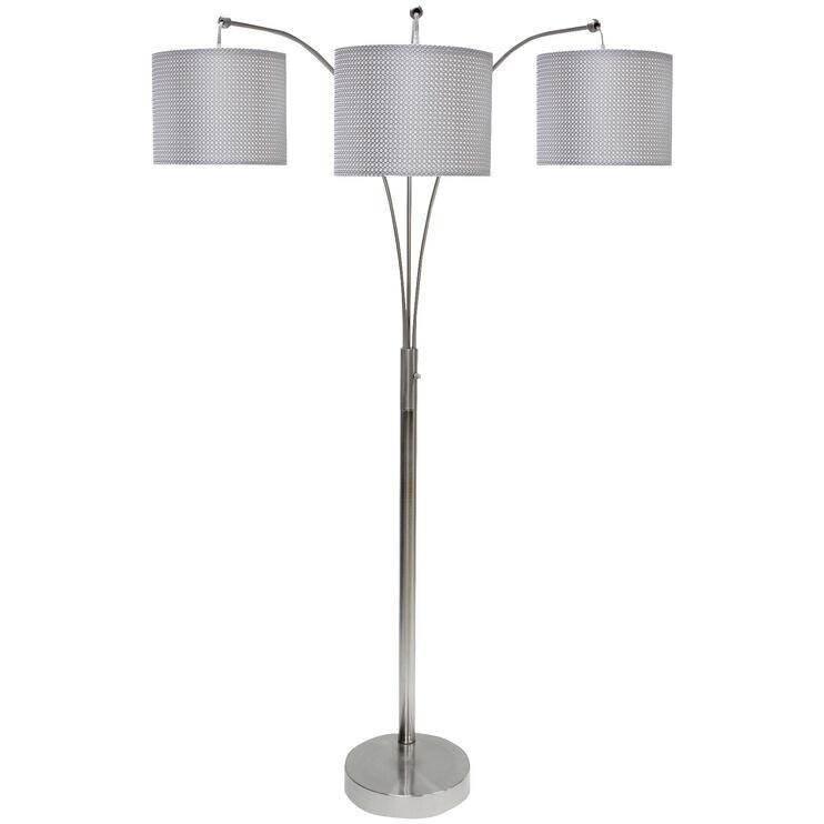 Skylight Brushed Steel Arc Lamp