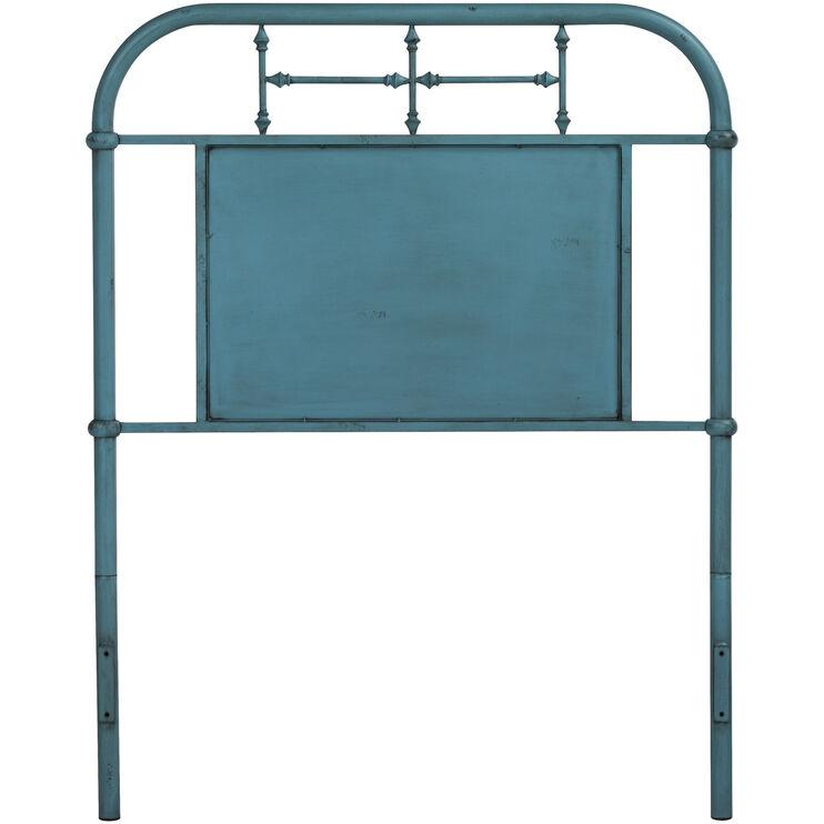 Bedroom Armoire Tv Kids Bedroom Paint Colors Low Bed Bedroom Blue Ceiling Bedroom: Vintage Blue Twin Headboard