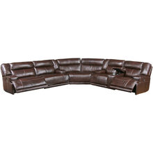 Tompkins 3 Piece Brown Power Recline Sectional