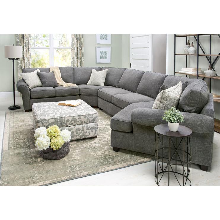 Slumberland Furniture Pathway 4 Pc Right Cuddler Sectional