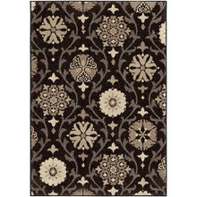 Heritage Chico Gray and Black Medallions Seal 5 x 8 Rug