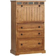 Sedona Oak LapTop Armoire