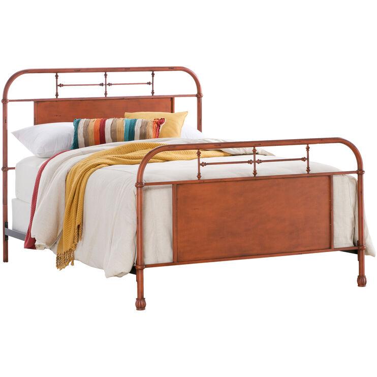 Vintage Orange Queen Bed
