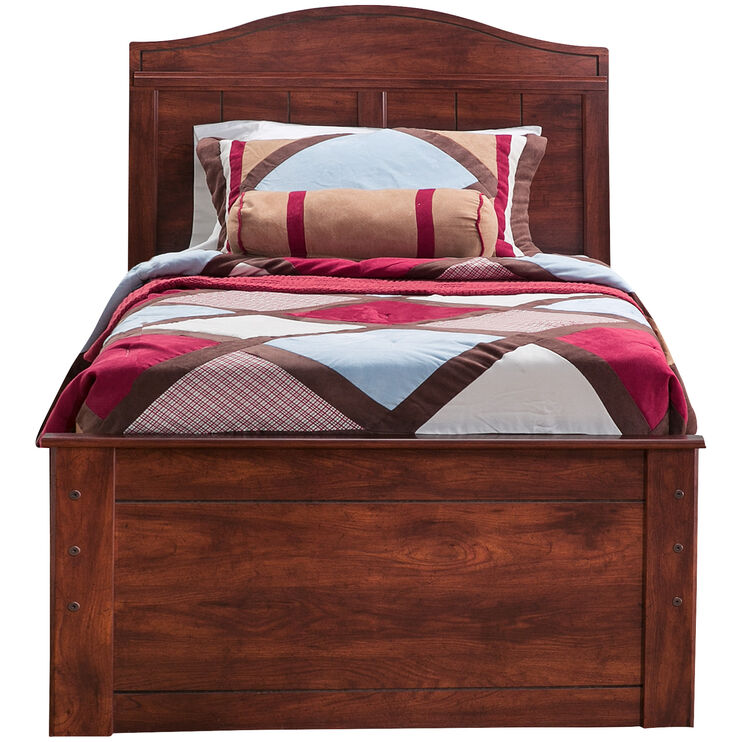 Barchan Brown Twin Panel Captains Bed