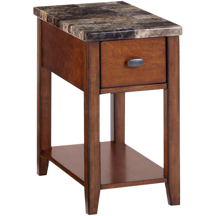 Theo Faux Marble Chairside Table