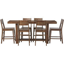 Rye 5 Piece Rustic Gray Counter Height Dining Set
