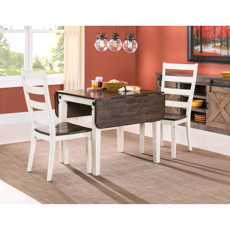 Glennwood 3 Piece White Dining Set