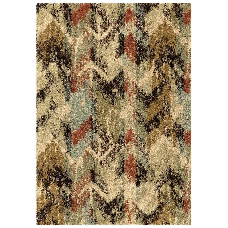 Wild Weave Distressed Multi Color Chevron 5 x 8 Rug