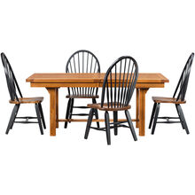 Keepsakes 5Pc Black & Oak Dining Set