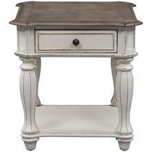 Magnolia Manor White End Table