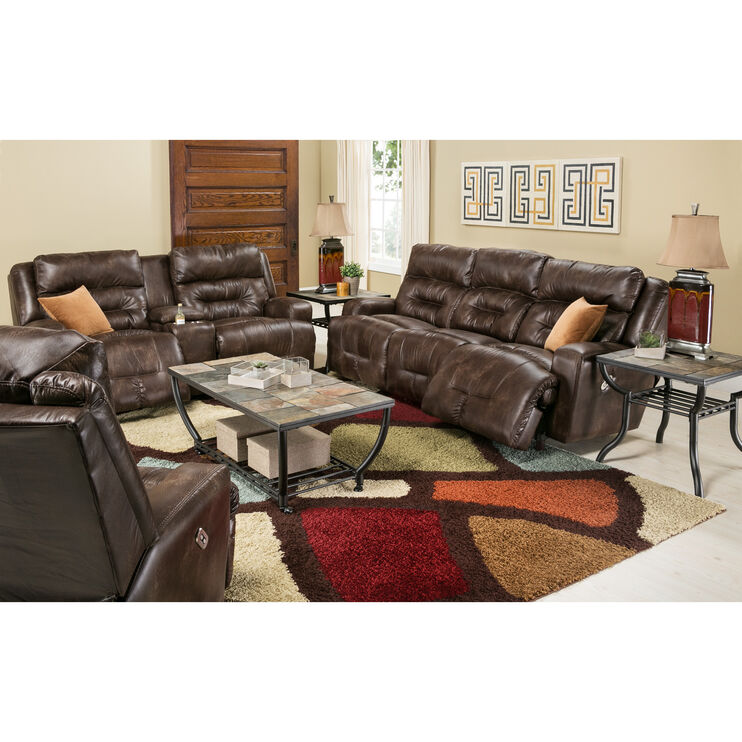 Slumberland Furniture Barnsley Brown Power Reclining Sofa