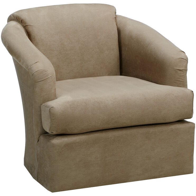 Cass Taupe Swivel Chair
