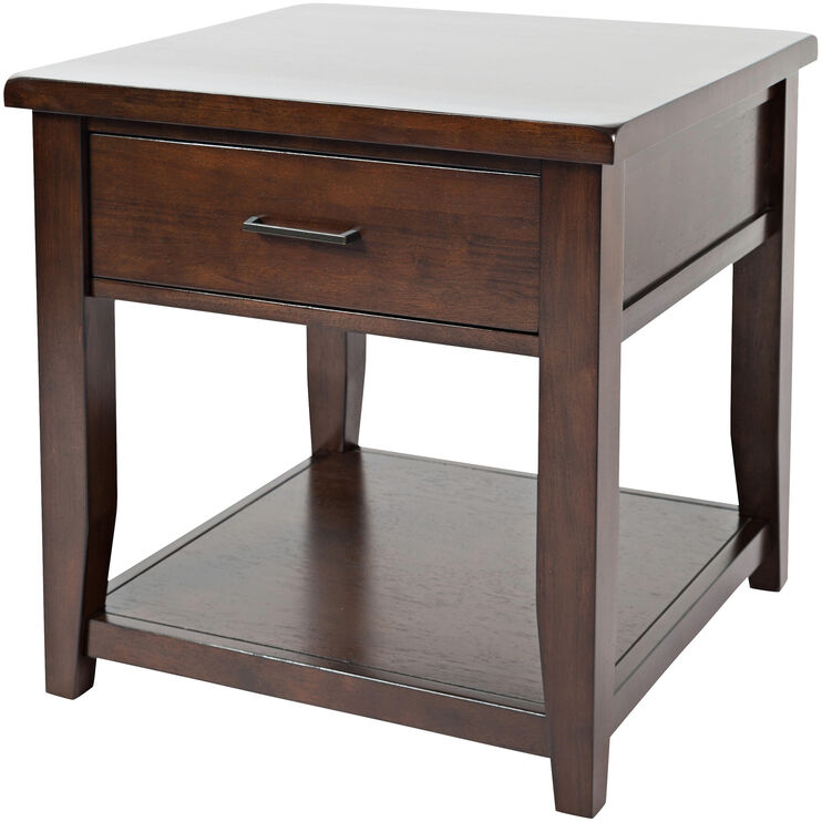 Twin Cities Dark Brown End Table