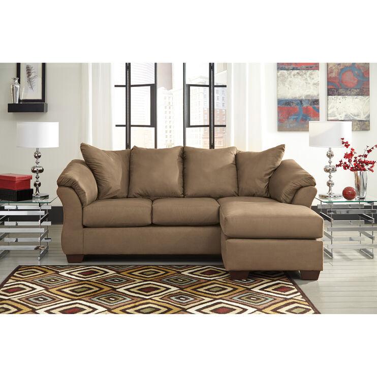 Marcy Mocha Chaise Sofa