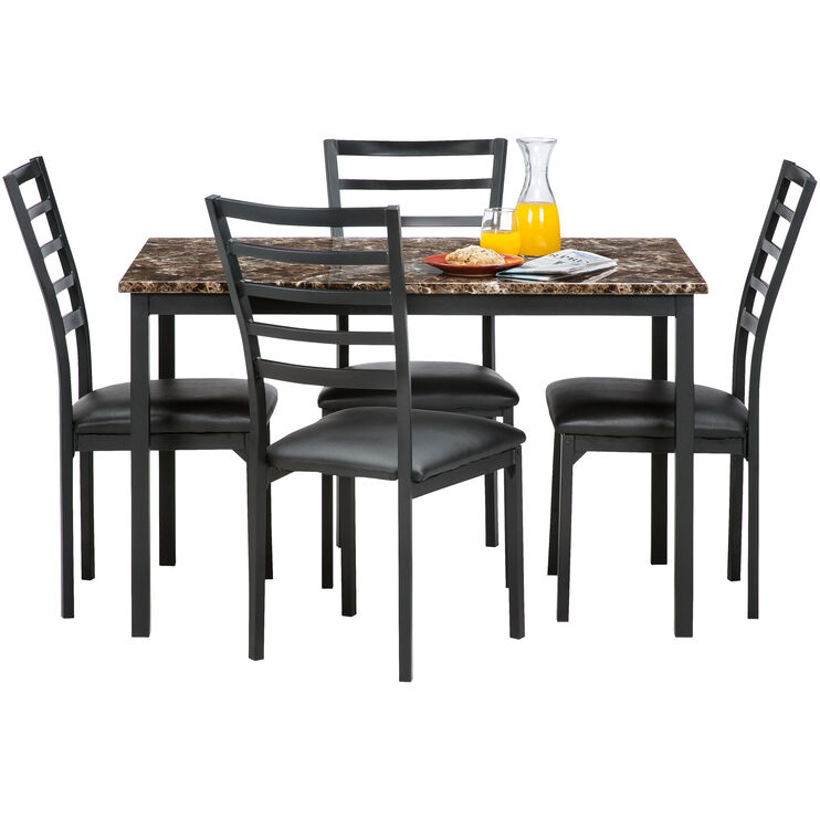 Ivory Coast Black 5 Piece Dining Set