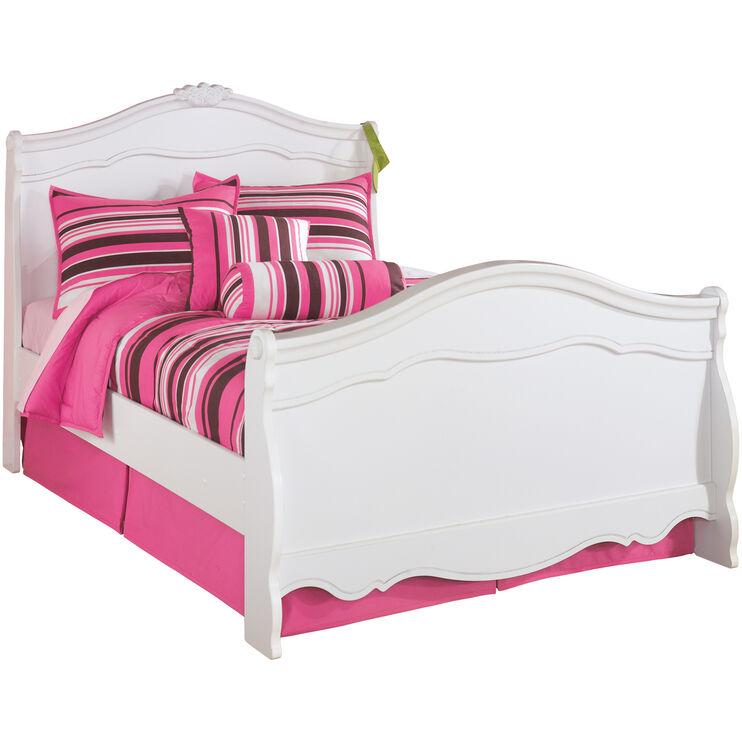 Exquisite White Full Bed