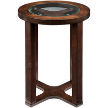 Marion Brown Round Chairside Table