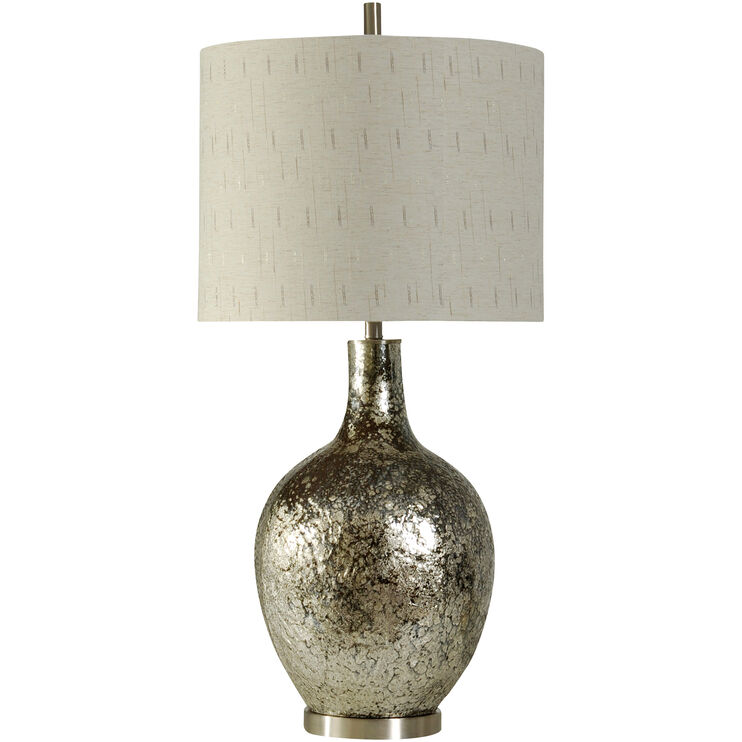 Navarro Silver Glass Table Lamp