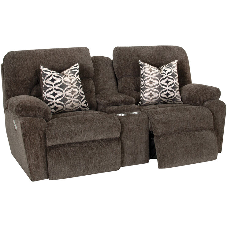 Nome 3 Piece Tiger Eye Power Plus Console Loveseat Sectional