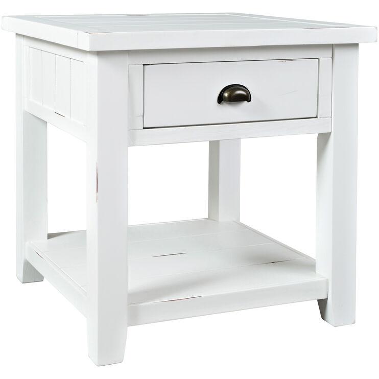 Artisans Craft White End Table