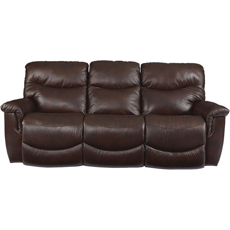 James Walnut Reclining Sofa