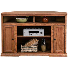 Chambers Golden Oak 56 Inch Corner Console