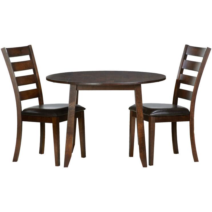 Kona Raisin 3 Piece Drop Leaf Dining Set