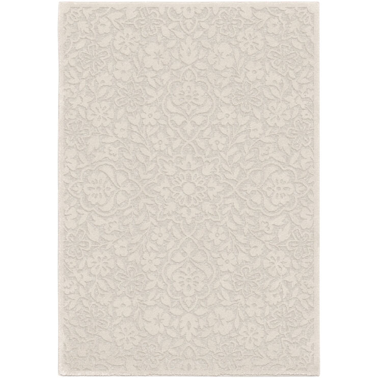 Boucle Cottage Floral Natural 5 x 8 Rug