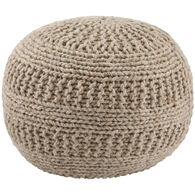 Benedict Natural Pouf Ottoman