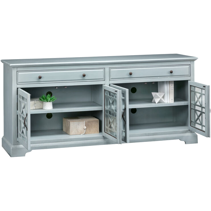 Chilton 70 Inch Antique Gray Console