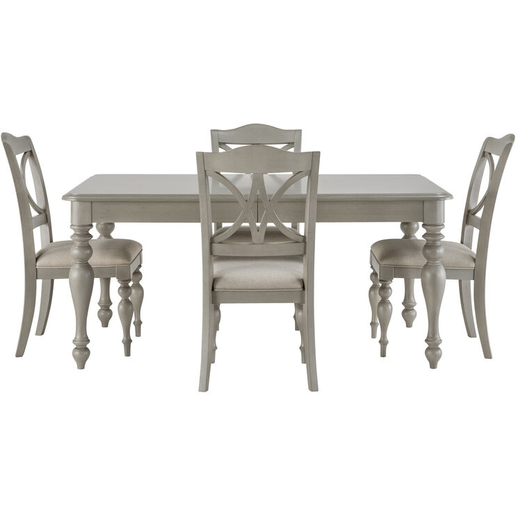 Summer House 5 Piece Gray Dining Set