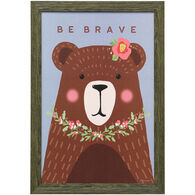 Brave Bear Framed Art