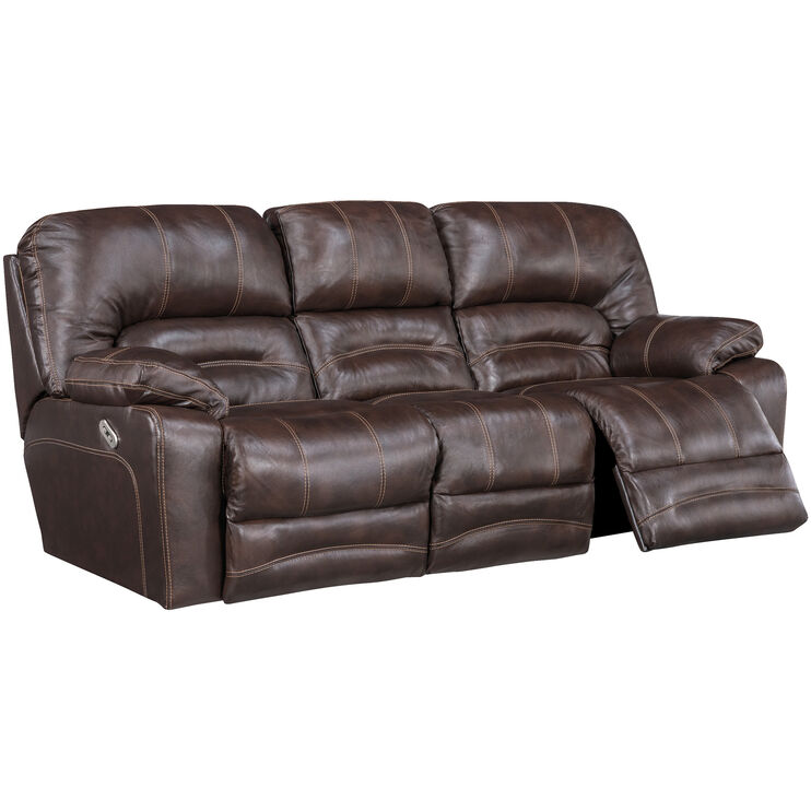 Stansted Chocolate Power Reclining Sofa