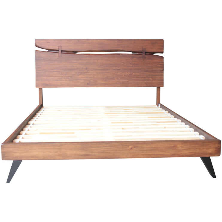 Dana Point Rustic Brown Queen Bed