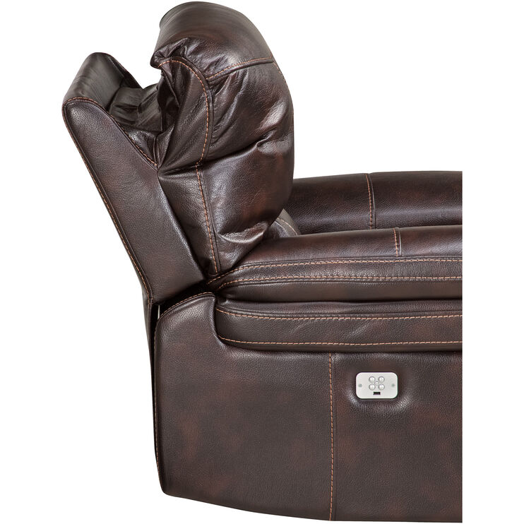 Valdez Brown Power+ Recliner