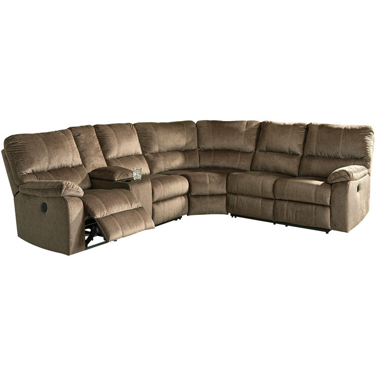 Bedford Mocha 3 Piece Power Reclining Loveseat Sectional