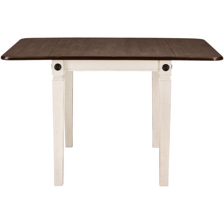 Glennwood Antique White Drop Leaf Table