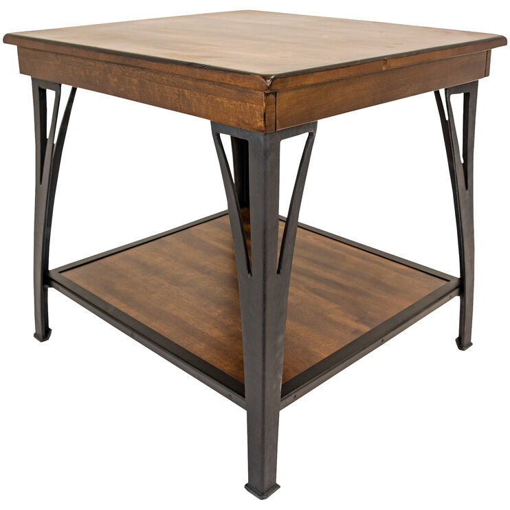 District Cool Copper End Table